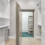1 of 2 Master Suite Closets & Panic Room With Steel Vault Door