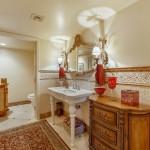 Elegant Powder Bathroom Near The Foyer