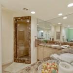 En Suite Bathroom With 2 Sinks & Steam Shower