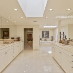 Exquisite Master Bathroom Looking Towards Private Office & Jetted Tub