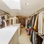 Custom Master Closet With Skylight